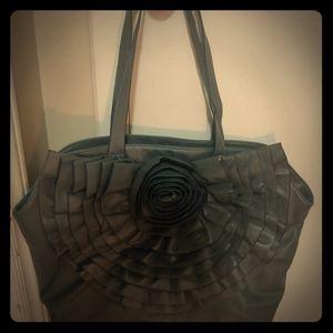 Black Rivet Flower bag